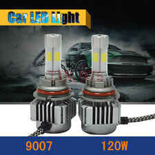 120W 12000LM All In One LED 9007 Headlight Kit Hi/Lo Beam 6000K White High Power