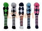 Pom Pom Wool Knitted Generic Universal Golf Driver Fairway Wood Headcover Cover