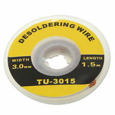 5 Feet /1.5M 3mm Desoldering Braid Solder Remover Wick Wire Repair Tool new HF