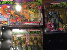 TEENAGE MUTANT NINJA TURTLES CLASSIC LOT Party Wagon Mech Wrekker Leo Mikey Don