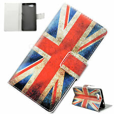 UK Flag PU Leather Slots Case Stand Wallet Cover For Sony Xperia Z3 Compact Mini