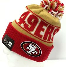 NFL San Francisco 49ers Authentic New Era Rep Ur Team Beanie Knit Red Cap Hat