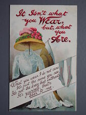R&L Postcard: Birn Bros, Edwardian Ladies Fashion Clothes Dress Hat Embossed