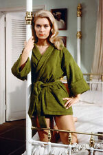 Alexandra Bastedo sexy on bed in robe The Champions 11x17 Mini Poster