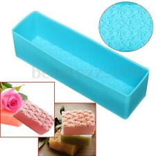 Silicone Soap Mold Rectangle Rose Toast DIY Cake Bread Candle Mould Baking Tool
