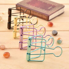 Durable Metal Hollow Out Office Supplies Clip Paper File Ticket Clips 57*33*10mm