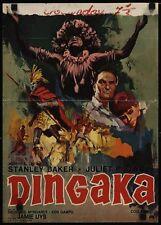 DINGAKA Belgian movie poster STANLEY BAKER 1965 RAY ELSEVIERS Art RARE