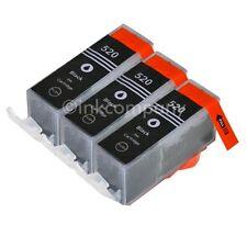 3 CANON Patronen mit Chip PGI-520 bk MP 540 MP 550 MP 620 MP 630 NEU