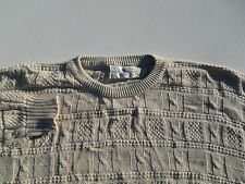 Christian Dior Mens USA Made Cable Knit Cotton Crewneck Sweater Size Large L
