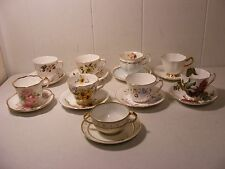 Lot of 9 Fine China Cup & Saucer Sets ~ England ~ Queen Anne ~ Staffordshire