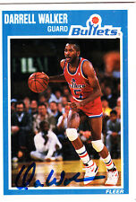 Darrell Walker NBA Bullets Fleer SIGNED CARD AUTOGRAPHED