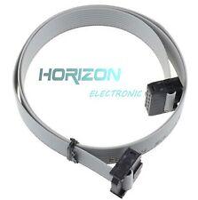 5PCS 70CM 10 Pin USB ASP ISP JTAG AVR wire 10P IDC Flat Ribbon DATA Cable 2.54mm