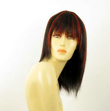 wig for women 100% natural hair black and red wick ref  KOKO 1b410 PERUK