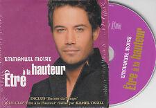 CD CARTONNE CARDSLEEVE EMMANUEL MOIRE ETRE A LA HAUTEUR 2T + CLIP
