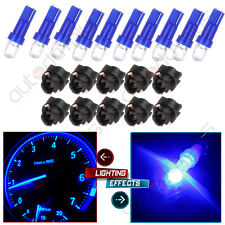 10x T5 Twist Socket Blue Instrument Panel Cluster Dash Led Light Bulb 17 73 74