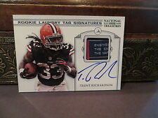 National Treasures Rookie Laundry Tag  Autograph Browns Trent Richardson   2012