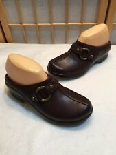 Ariat Brown Leather Clogs Slip On Shoes Mules 7.5 B