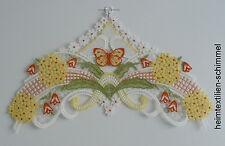 PLAUENER SPITZE ® Fensterbild FRÜHLING Schmetterling FRÜHLINGSWIESE Blumen DEKO