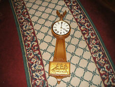 Vintage Syroco Nautical Wall Clock-8 Day Clock-3981-American Eagle Top
