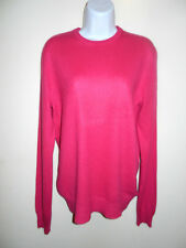 MEN'S CLUB MONACO 100%CASHMERE CRIMSON VERY LONG SLEEVES CREWNECK SWEATER S