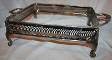 Large Chaffing Serving Dish Corning Ware Sterling Silverplate Stand Holder