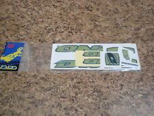 NOS VINTAGE 1998 GT DYNO AIR GREEN STICKER SET OLD SKOOL BMX FREESTYLE RACING