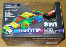 Sports Car 8 in 1 Power Block Laser Pegs Light up Building Block Brick