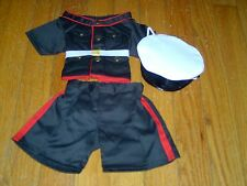 NEW IN PLASTIC- BEAR FACTORY-U S MARINES UNIFORM -3 PIECE SET -SHIRT PANTS &HAT