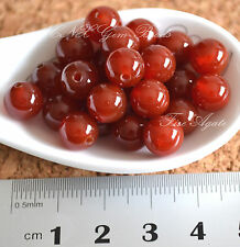 5 Beads of Natural Red Fire Agate Round Beads 8mm Gemstone Crystal DIY Rare