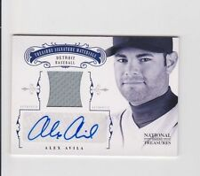 2012 National Treasures ALEX AVILA Game Used Jersey Auto Autograph #26/49