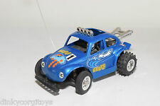 PLASTIC R/C VW VOLKSWAGEN BEETLE KAFER BUGGY RALLY BLUE EXCELLENT CONDITION