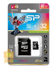 New Silicon Power Elite 32GB Micro SDHC CLASS 10 MEMORY CARD + Micro SD Adapter