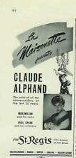 1942 CLAUDE ALPHAND THE MAISONETTE AT ST. REGIS AD