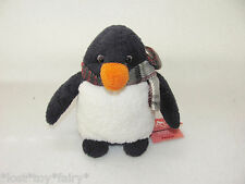 """Russ Penkie Penguin Luv Pets Scarf Suede Bean Bag Plush Holiday Toy NWT 6"""""""