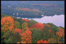 341065 Aerial View Of Haliburton Dorset Ontario A4 Photo Print