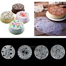 4 Pcs Variety Cake Cupcake Template Stencil Mold Birthday Spiral Decoration
