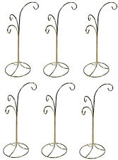 "Ornament Display Stand Holder Hanger has 3 Hooks, 13"" Tall -Pack of 6 Stands"