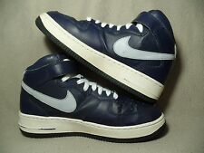 NIKE AIR FORCE 1 MID GS Boys Obsidian White Cool Grey Trainers UK 5.5/EU 38.5