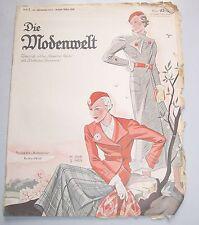 Die Modenwelt Heft 7 / 1933 mit Schnittmusterbogen Modezeitschrift Handarbeit !