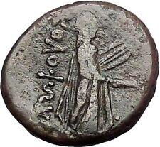 KOLOPHON in IONIA 1CenBC Poet Homer of ODYSSEY Apollo Ancient Greek Coin i55330