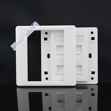 Wall Socket Plate 3 port RJ11 TEL+ One port CAT5 5e RJ11  Panel Faceplate Outlet