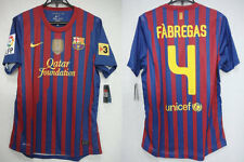 2011-2012 FC Barcelona FCB Home Player Jersey Shirt Camiseta Fabregas #4 L BNWT