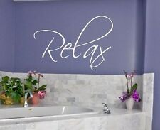 RELAX.. vinyl wall decal saying bathroom home decor quote word lettering sticker