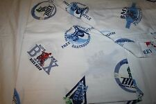 "Pottery Barn Kids ""BMX Bike Shop""  BOYS Twin Flat Sheet Crisp Cotton EUC"