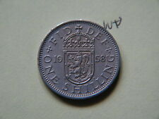 World Coin,  1958 One Shilling Great Britain, UK