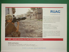 2/2005 PUB RUAG AEROSPACE LAND SYSTEMS MEP WARHEAD ANTITANK ORIGINAL ADVERT