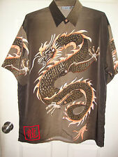 Dragon Shirt - Brown - Manga Anime Print -Size XL