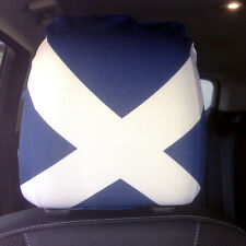 CAR SEAT HEAD REST COVERS 2 PACK SCOTLAND DESIGN MADE IN YORKSHIRE