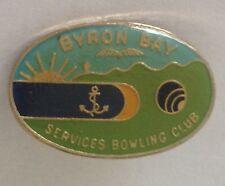 Byron Bay Services Bowling Club Badge Anchor Design Rare Vintage (L1)
