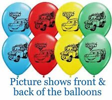 Disney Cars Party Supplies - Cars Balloons - Printed 30cm Latex 2 for $1.50